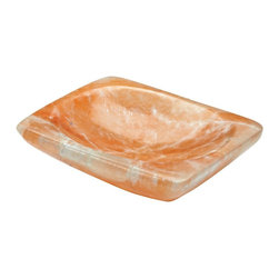 Lazy Susan - Lazy Susan 921001 Nectar Selenite Tray - Small - If you need a little catchall for your spare change, keys and whatnots, this lovely selenite tray will look great on your dresser or console table. It's hand crafted from one piece of mineral so no two are the same, and has wonderful, natural striations that lend depth and interest. Comes in two colors and two sizes.