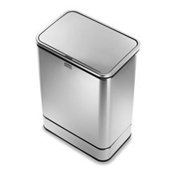 Simplehuman - simplehuman 40-Liter Rectangular Brushed Stainless Steel Sensor Trash Can - Stop fumbling with messy garbage! This heavy-duty trash can features Multi-sense? technology that automatically opens the lid when you're ready to throw in trash.