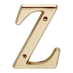 "Renovators Supply - House Numbers Bright Solid Brass 4"" House Letter Z - Made of solid brass, these polished die cast letters are made to withstand the elements. Measuring 4 in. high, they are easily seen from the curb. They will update your home's exterior!"