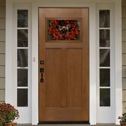 Fir Craftsman Entry Door - Mastergrain fiberglass entryways bring the rich wood grain from real wood door to a low maintenance fiberglass door facing.