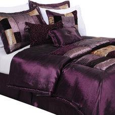 Florence 7 Piece King Comforter Set in Eggplant | Nebraska Furniture Mart