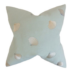 """The Pillow Collection - Cailean Coastal Pillow, Blue 18"""" x 18"""" - Bring a classic coastal vibe to any of your room with this refreshing throw pillow."""