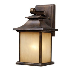 Elk Lighting - Elk Lighting 42180/1 San Gabriel Traditional Outdoor Wall Light - Elk Lighting 42180/1 San Gabriel Traditional Outdoor Wall Light in Hazelnut Bronze