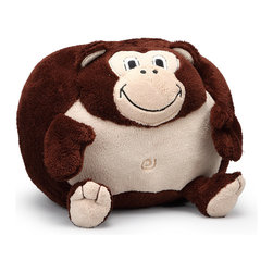 Cuddly Buddies by Berkshire Blanket - Michael Monkey Cuddly Buddies Pillow - Whether catching z's or handing out hugs, this darling pillow, made of high-pile shearling plush, is always ready to play. Bogeymen and monsters beneath the bed had better look out, because this charming chum will keep watch each time little sweeties close their eyes!   17'' W x 14'' H x 16'' D 100% polyester Spot clean Imported