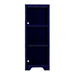 youngAmerica - Dana Low Bookcase - True Blue Vintage Weathered Finish - Simple bookcases are ...