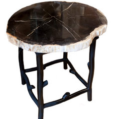 eclectic side tables and accent tables by Agate Designs