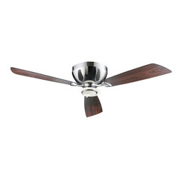 "Quorum Lighting - Quorum Lighting Nikko 52"" Contemporary Hugger Ceiling Fan X-41-32507 - From the Nikko Collection, this Quorum Lighting hugger ceiling fan features a more compact design that is ideal if you have a lower ceiling. The motor is designed to mount semi-flush against the ceiling and the curvilinear design is paired with three blades and your choice of colors."