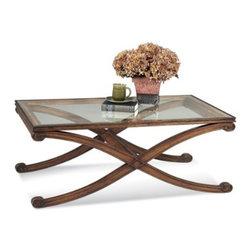 Basett Mirror - Bassett Mirror Wellington Rectangle Cocktail Table - The Wellington Rectangle Cocktail Table (Fruitwood Finish) has the following features: