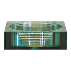 Avanity - Tempered Segmented Glass Vessel Bathroom Sink - Square - features of a clear green tint and is a perfect reflection of high quality.  This 17-3/4 in. Vessel works with a variety of vanities, so you can create a customized design to suit your individual needs.