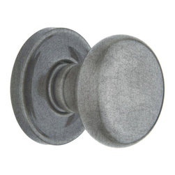 Baldwin Hardware - Estate Classic Full Dummy Door Knob in Distressed Antique Nickel - The Estate line offers the ultimate flexibility in creating your own custom look. Not only can you mix knobs, levers, and roses to create a custom lockset that's a true fit to your design vision, you can also mix knob and lever styles on each side of the