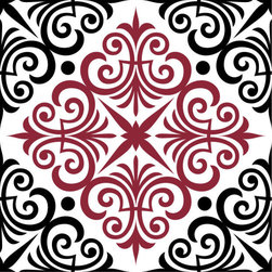 Odhams Press - Chartwell Red RETile Decal, Clear Background - RETile decals can be used to accent or transform your existing ceramic, stone or glass tiles. They are easy to apply and can be removed in the future without leaving a sticky residue.