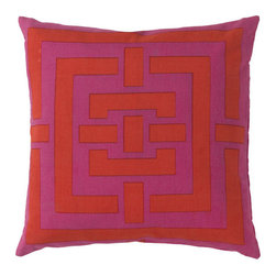 Amaya Pillow with Polyester Filler - Add visual interest to a sofa, side chair or banquette with this Amaya Pillow. Made with 100% cotton and stuffed for comfort with a polyester filler, this accent gives any throw pillow mix a bright, geometric lift.