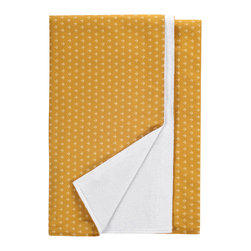 Nine Space - Anchor Beach Towel, Gold - This 100 percent Turkish cotton towel will have you looking shipshape. It features an allover anchor print that helps to repel sand, while the reverse side's soft, cotton-terry loops wick away moisture. It's the perfect companion at the beach, poolside or even at a picnic.