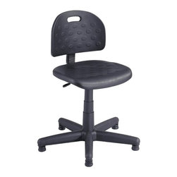 Safco - Safco Soft Tough Economy Task Chair Multicolor - 6900 - Shop for Chairs from Hayneedle.com! If you need a chair that gives optimum comfort then the Safco Soft Tough Economy Task Chair is the right choice for you. You'll get tons of options for personalized adjustment - the chair rotates a full 360 degrees for ease of motion seat depth adjustment makes it an ideal chair for users of all heights and it's loaded with manual pneumatic seat height adjustment and steel spring back adjustment. It also features a welded steel five-star base with telescoping polypropylene cover and floor glides. The chair has a solid molded self-skinned polyurethane seat and a black back. Setting up the chair requires some assembly. About Safco ProductsSafco products were specifically developed to meet the changing needs of the business world offering real design without great expense. Each product is designed to fit the needs of individuals and the way they work by enhancing comfort and meeting the modern needs of organization in the workplace. These products encourage work-area efficiency and ultimately work-life efficiency: from schools and universities to hospitals and clinics from small offices and businesses to corporations and large institutions airports restaurants and malls. Safco continues to offer new colors new styles and new solutions according to market trends and the ever-changing needs of business life.