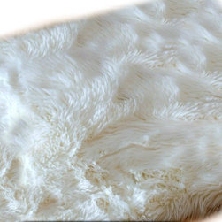 Fur Accents - Faux Fur Sheepskin Accent Rectangular Rug, Off White Shaggy Throw, 2x4 - Fine and Fancy Fur Accent Rug. Rich Shaggy Off White Faux Rectangle Sheepskin Area Carpet. Fancy Rectangle Shaped Pelt Design. Made from 100% Animal Free and Eco Friendly Fibers. Perfect for any room in the house. Try it in the Winter Lodge, Log Cabin or Family Great Room. Real Animal Fur has natural oils which can become magnets for dust and dirt. When washed the oil is removed but then the skin becomes dry, brittle and matted. Be Kind to Animals ALWAYS BUY FAUX ! Tastefully designed and fully lined with real Parchment Ultra Suede. Luxury, Quality and Unique Style for the discriminating designer / decorator.