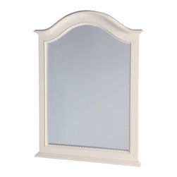 Lea Industries - Lea Hannah Vertical Mirror in White - The Hannah collection by Lea is sure to look great in any girl's room with its soft curves, shaped pilasters, finessed lines, scalloped details, and casual hardware. This collection is offered in a crisp White finish and is crafted from solid hardwoods and painted wood products. The Hannah collection offers many different storage that are perfect for any size room. With the updated country classic styling of the Hannah collection it is sure to be a great fit for your daughter's bedroom! with roots that stretch all the way back to 1869, Lea Industries has been adding its signature style and design to homes around the United States for more than a century. Children's furniture makes up the cornerstone of this topnotch manufacturer's lineup, and Lea has always managed to produce functional, modern - yet sophisticated - furniture for children. Furniture that bears the Lea name is always high quality, versatile and attractive.