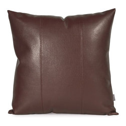 Howard Elliott - Avanti Pecan 20 x 20 Pillow - Change up color themes or add pop to a simple sofa or bedding display by piling up the pillows in a multitude of colors, textures and patterns. This Avanti Pillow features a rich pecan brown color, textured grain and a paneled design to give the look of true leather.