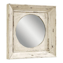 Bassett Mirror Company - Bassett Mirror Easy Living Alston Wall Mirror in Rusticated White - Alston Wall Mirror in Rusticated White belongs to Easy Living Collection by Bassett Mirror Company Bassett Mirror is fluent in this art, showing a terrific contemporary furniture that will satisfy on the one hand fans of home coziness, and on the other hand - seekers of non-standard design solutions also. One of the many strengths of the Bassett Mirror is using high quality materials for perfect embodiment of brilliant design ideas. Mirror (1)