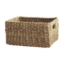 WOVEN RECTANGLE BASKET - MEDIUM - Do you occasionally lose things? Buy duplicates of items already on hand? Have no idea where to put a hodgepodge assortment of things you don't even remember buying? Fortunately, we have a solution: Our Woven Baskets (which conveniently scale from small to large) are the perfect storage solution. Stylish, textured, and equipped with handles, these baskets fit easily into your life and your home wherever they're needed, from holding children's or pets' toys on the floor to resting on a shelf in a row. Whether you need to store your sweaters or your craft supplies, this basket is the perfect accessory to simplify your life.