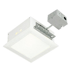 """Progress Lighting - Progress Lighting P6414-30TG White Complete Square Housing & Trim - (Write a constructive review of this item and upon approval receive a $10 credit, itÂ's as simple as that. Good or bad, we want it all! If a review is not approved, you will receive a follow-up email explaining why and how you can fix it. Credit is limited to each unique item purchased, the same product can not be reviewed more than once for credit. There is no limit on the amount of different products you can review with proof of purchase.)Remodeling or building a house? Why not add in some style with recessed lighting?  This durable housing is pre-wired and is complete with housing and trim for a one stop shop!  Flat white glass offers  clean and diffused light while torsion springs make for easy relamping.  UL Listed for damp locations, this fixture also features Therma-Gard which offers automatic resetting thermal protection.This product requires P8716 (hanger bars) for new construction or P8700 (clip) for remodeling.Features:Recessed housingPre-wired housing and trimFlat white glassTherma-Gard thermal protectionUL ListedSpecifications:Width: 9-1/2""""Height: 9-1/2""""Uses (1) 100w medium base bulb (included)Total Wattage: 100"""