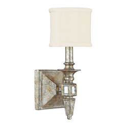 "Traditional Palazzo 5 1/4"" Wide Silver and Gold Leaf Wall Sconce"