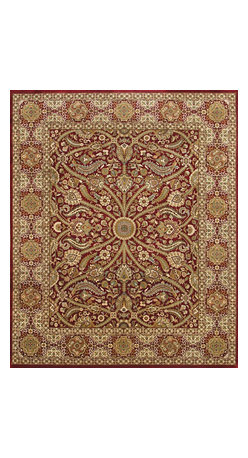 Rugsville - Rugsville Dynasty Red Wool DY-1301-810 8x10 Rug - Rugsville Dynasty Red Wool DY-1301-810 8x10 Rug