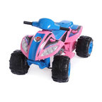Fun Wheels - Fun Wheels Step-2 Max Quad Battery Powered Riding Toy - Pink - 03PS2 - Shop for Tricycles and Riding Toys from Hayneedle.com! Bright and bold the Fun Wheels Step-2 Max Quad Battery Powered Riding Toy Pink is a statement off road or in the house. This cute rechargeable ATV is loaded with features pedal acceleration working headlights and a horn. Powered by a rechargeable 6-volt battery. Playtime: 1-2 hours.