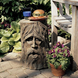 Design Toscano - Design Toscano The Odin Greenman Sculpture - DB888 - Shop for Tables from Hayneedle.com! Bring the fanciful world of Middle Earth to your home or garden with the Design Toscano The Odin Greenman Sculpture. High-quality resin construction provides durability. The expertly sculpted and detailed design features the appearance of weathered brown bark. Recreate the benevolent face of the mystical greenman gaze with this accent.About Design ToscanoDesign Toscano is the country's premier source for statues and other historical and antique replicas which are available through the company's catalog and website. Design Toscano's founders Michael and Marilyn Stopka created Design Toscano in 1990. While on a trip to Paris the Stopkas first saw the marvelous carvings of gargoyles and water spouts at the Notre Dame Cathedral. Inspired by the beauty and mystery of these pieces they decided to introduce the world of medieval gargoyles to America in 1993. On a later trip to Albi France the Stopkas had the pleasure of being exposed to the world of Jacquard tapestries that they added quickly to the growing catalog. Since then the company's product line has grown to include Egyptian Medieval and other period pieces that are now among the current favorites of Design Toscano customers along with an extensive collection of garden fountains statuary authentic canvas replicas of oil painting masterpieces and other antique art reproductions. At Design Toscano attention to detail is important. Travel directly to the source for all historical replicas ensures brilliant design.