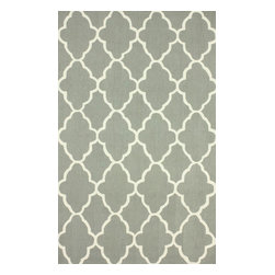 """nuLOOM - Contemporary 3' 6"""" x 5' 6"""" Dk Grey Hand Hooked Area Rug Trellis HK86 - Made from the finest materials in the world and with the uttermost care, our rugs are a great addition to your home."""