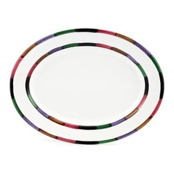 Artistica - Hand Made in Italy - CIRCO: Serving Oval Platter - The Circo-Bello collection is an exclusive product from Deruta of Italy designed by Bill Goldsmith.