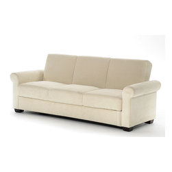 Lifestyle Solutions - Lifestyle Solutions Thomas Convertible Sofa in Light Brown - Serta Dream Convertibles - a collection of stylish convertibles that turn from Sofa by Day to a Dream Sleeper at Night. From individual encased coils to quilted memory foam to ensure comfort.