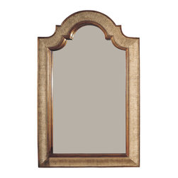 Bassett Mirror - Gold and Silver Shaped Wall Mirror - Gold And Silver Finish with Bevel Shaped. Measures: 29 in. W x 45 in. H.