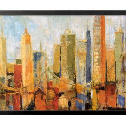 Artcom - Metro Heights by Karen Dupr&eacute - Metro Heights by Karen Dupr&eacute is a Framed Art Print set with a SOHO Black wood frame.