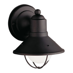 Kichler Lighting - Kichler Lighting 9021BK Seaside Painted Black Outdoor Wall Sconce - Kichler Lighting 9021BK Seaside Painted Black Outdoor Wall Sconce