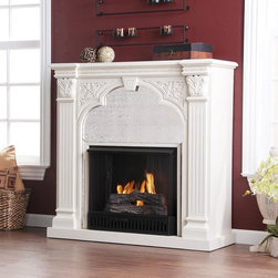 Kidwell Antique White Gel Fuel Fireplace - This has the look of something antique, but it's safe and smoke-free. I can see some special stay-cation nights ahead.
