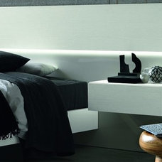 Nightstand and bed