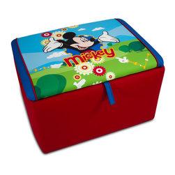 Kidz World - Disney Mickey Mouse Clubhouse Upholstered Storage Box ...