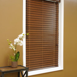 "American Blinds 2"" Bamboo Wood Blinds - The American Blinds 2"" Bamboo Blind provides a unique, exotic texture with a decor-friendly color selection of stained and painted finishes. Blinds are made from 100% natural bamboo, which gives each blind a natural appearance. Bamboo is a rapid-growing, renewable plant species that produces earth-friendly materials. Bamboo blinds are much lighter in weight than wood blinds, making them easier to operate."