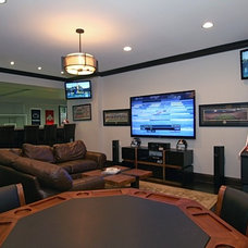 Contemporary Basement by Oakley Home Builders