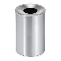 "Blomus - Casa Stainless Steel Wastebasket, Small - How many trash cans could qualify as ""throw away items"" themselves? This standing waste bin is here for the duration, adding a distinct sense of style and superb design to your business, office or home decor. You can even fix it to the floor if you like. How many previous trash cans would tempt you into a relationship that durable?"