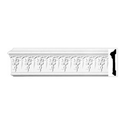 "Renovators Supply - Crown Moldings Urethane Willoughby - Crown Molding - Ornate | 11607 - Crown Moldings: Made of virtually indestructible high-density urethane our crown molding is cast from steel molds guaranteeing the highest quality on the market. High-precision steel molds provide a higher quality pattern consistency, design clarity and overall strength and durability. Lightweight they are easily installed with no special skills. Unlike plaster or wood urethane is resistant to cracking, warping or peeling.  Factory-primed our crown molding is ready for finishing.  Measures 96"" x 4 5/8""."