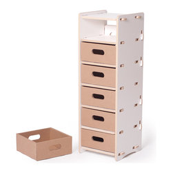 Quark Enterprises - Multi-drawer Organizer, White - This could be great in a home office. Your kids' craft supplies could coexist alongside your office essentials, and each family member could have their own drawer.