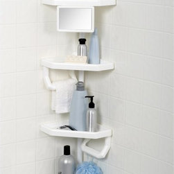Zenith Products - Zenith 5104W Premium Bathtub and Shower Pole Caddy Multicolor - 5104W - Shop for Shower and Tub Caddies from Hayneedle.com! The Zenith 5104 Premium Bathtub and Shower Pole Caddy comes with extra large adjustable shelves and additional features like a mirror and towel bars so you have a proper place for all your shower necessities. About ZenithZenith Products Corporation is America's leading manufacturer of bathroom storage and organizational products for the retail market. Zenith offers a wide line of items and accessories that are both attractive and functional. Customers can choose from bath furniture in a variety of finishes materials sizes and designs. These products are complemented by matching space-savers tank-toppers and storage items that enable homeowners to make maximum use of bathroom space. Zenith helps decorate and organize bath and shower enclosures with its patented Twist-Tight curtain rods and broad range of shower caddies and lotion dispensers available in a wide array of styles and colors. Based in New Castle Del. Zenith products are distributed nationwide through home centers bath specialty shops mass merchants and catalog retailers.
