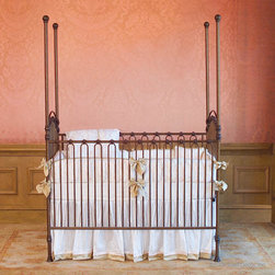 Venetian 3 in 1 Heirloom Iron Baby Crib:  Gold -
