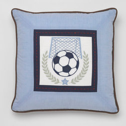 Whistle & Wink - Vintage Sports Soccer Pillow - Vintage Sports Soccer Pillow