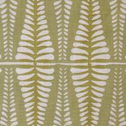 Fern Fabric, Sage - This fern print would be great to add a little bit of geometry, but it still keeps things flowing and feeling natural.