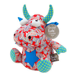 "Trend Lab - Stuffed Toy - Mommy's Little Monster - Welcome baby with this adorable Mommy's Little Monster Patchwork Stuffed Toy by Trend Lab. This mischievous patched monster is made from soft cotton and is embellished with embroidery. Stuffed monster prints include: a cherry based bandana print featuring dashes of blue raspberry, summer green, orange peel and turquoise; an ocean blue and summer green check print; and solid ocean blue. Monster stands approximately 10"" tall. Monster Stuffed Toy coordinates with the Mommy's Little Monster Collection by Trend Lab."