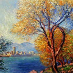 "overstockArt.com - Monet - Antibes, View of Salis - 20"" X 24"" Oil Painting On Canvas Hand painted oil reproduction of a famous Monet painting, Antibes, View of Salis. The original masterpiece was created in 1888. Today it has been carefully recreated detail-by-detail, color-by-color to near perfection. Why settle for a print when you can add sophistication to your rooms with a beautiful fine gallery reproduction oil painting? While Monet successfully captured life's reality in many of his works, his aim was to analyze the ever-changing nature of color and light. Known as the classic Impressionist, Monet cannot help but inspire deep admiration for his talent in those who view his work. This work of art has the same emotions and beauty as the original. Why not grace your home with this reproduced masterpiece? It is sure to bring many admirers!"