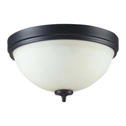 Two Light Matte Black White Glass Bowl Flush Mount - With a contrasting white shade and crystal sphere, this two-bulb flush mount is a unique mix of contemporary and traditional styling. Finished in matte black, this fixture creates an elegant yet bold statement.