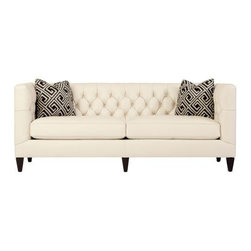 GoreDean - Bethesda  Leather Sofa - W 83 | D 36 | H 33 in.